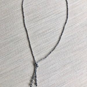 Gunmetal beaded necklace